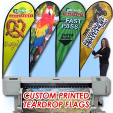 11ft Custom Teardrop Feather Flag
