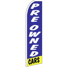 Pre Owned Cars - Blue Feather Flag Banner