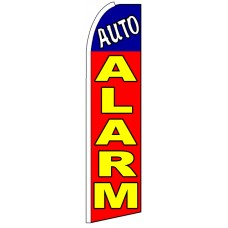 Auto Alarm - Red Advertising Feather Flag Banner