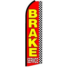 Brake Service - Red Feather Flag Banner