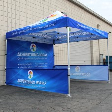 10'x10' Custom Pop-Up Tent Canopy with Aluminum Frame